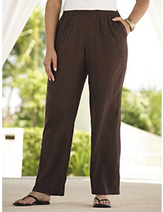 Tropi-cool Gauze Pants by Ulla Popken