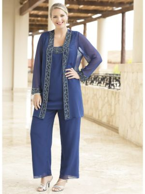 Blue Enchantment Georgette Pant Set