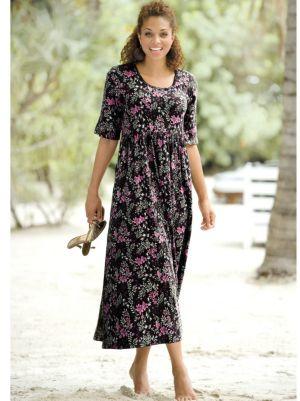 Print Smock Knit Dress
