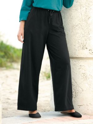 Stretch Knit Drawstring Pants
