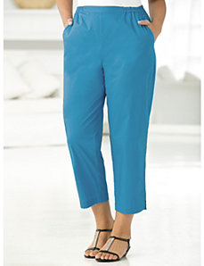 Vented Stretch Capri Pants by Ulla Popken