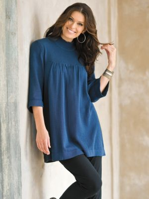 Mock Neck Smock Sweater