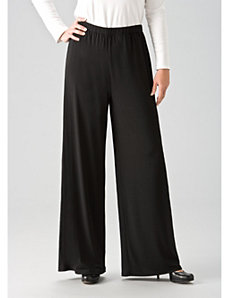 Matte Jersey Wide-leg Pants by Ulla Popken