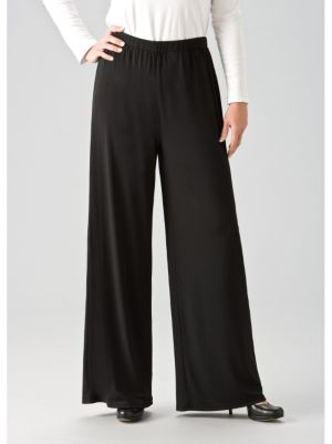 Matte Jersey Wide-leg Pants