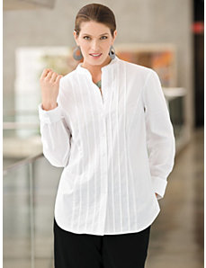 Pintuck Stretch Blouse by Ulla Popken