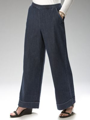 Stretch Wide-leg Pants