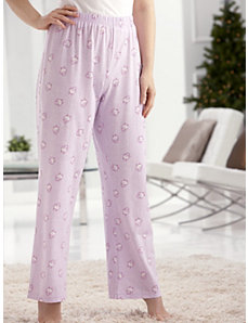 Comfy Knit Print Pajama Pants by Ulla Popken