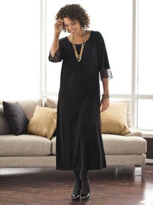 Matte Jersey Sequin Sleeve Dress