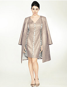 Gold metallic long jacket by Isabel Toledo