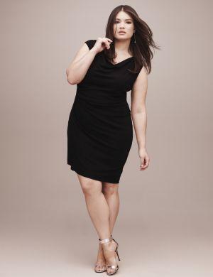 Lane Collection asymmetric draped dress
