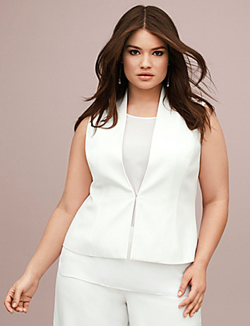 Lane Collection sleeveless jacket