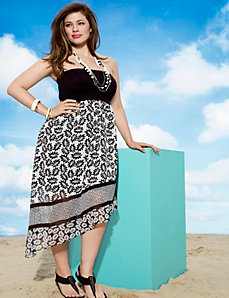 Asymmetric tube dress by Lane Bryant