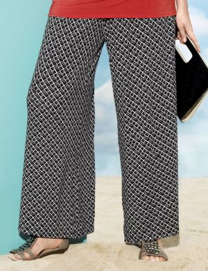 Printed soft knit pant