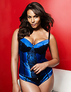 Satin & lace corset by LANE BRYANT