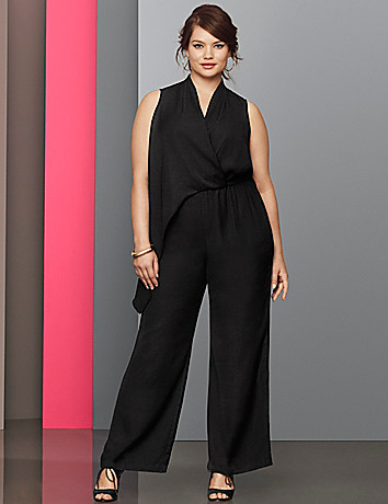 Plus Size Lane Collection sexy jumpsuit