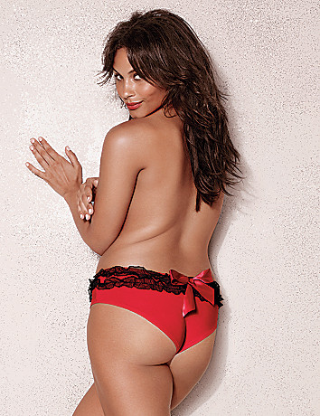 Full Figure Ruffled Cheeky Panty by Cacique