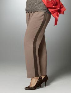 Soft pant with tuxedo stripes