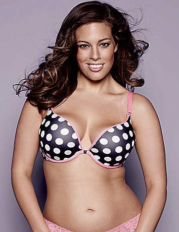 Polka dot reversible plunge bra by Cacique