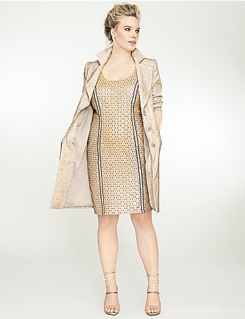Embroidered long jacket by Isabel Toledo