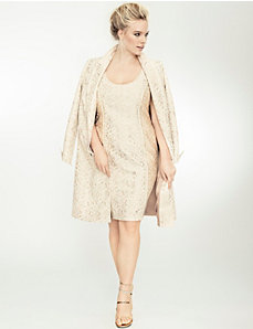 Embroidered lace long jacket by Isabel Toledo