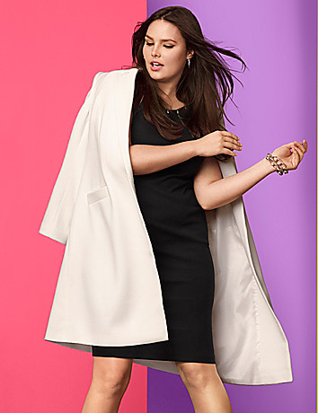 Long car coat by Lane Bryant