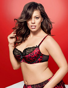 Embroidered animal French balconette bra by LANE BRYANT