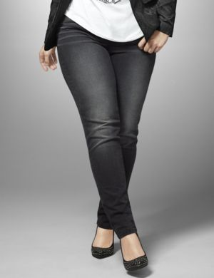 Genius Fit black skinny jean