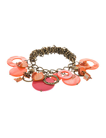 Shell disc stretch bracelet by Lane Bryant