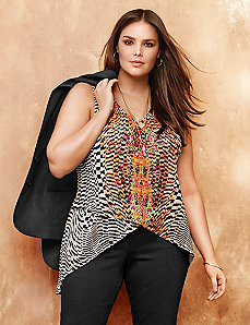 Layered mesh printed tank by LANE BRYANT