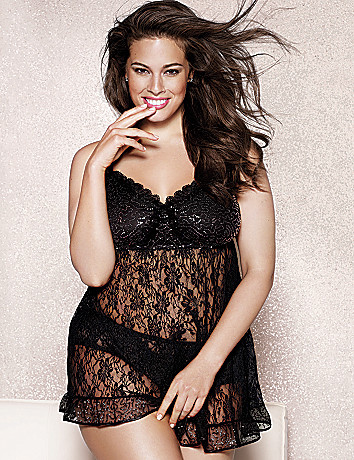 Plus Size Sequin Cami & Panty Set by Cacique