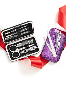 Metallic manicure set