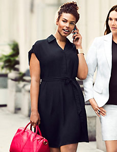 Short sleeve shirt dress by LANE BRYANT