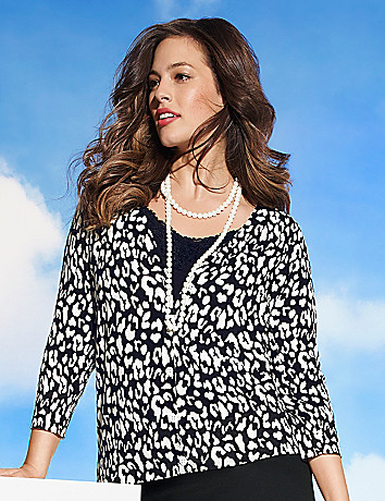Plus Size Animal print cardigan by Lane Bryant