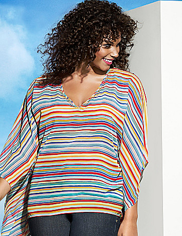 Striped drama top by Lane Bryant