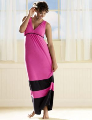 Colorblock sleep maxi