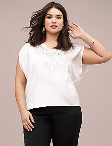 Lane Collection paillette sequin top by LANE BRYANT