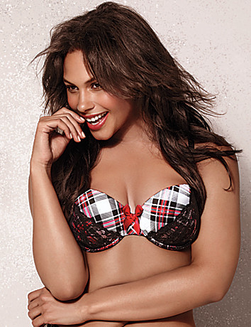 Naughty plaid demi bra by Cacique