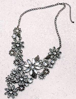 Rhinestone flower necklace by Lane Bryant