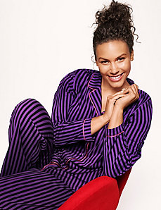 Striped 2 piece PJ set by LANE BRYANT