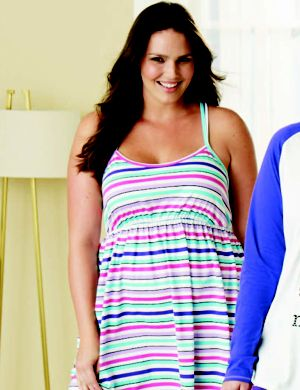 Striped knit chemise