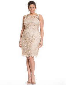 Lace illusion dress by Adrianna Papell