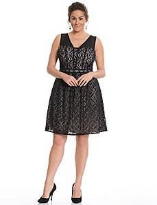 Lace fit & flare dress by Adrianna Papell