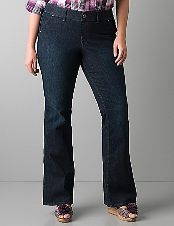Dark wash flared jegging by Lane Bryant