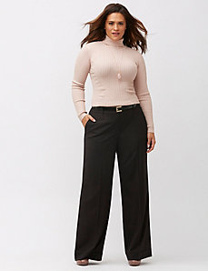 Lena metallic stripe wide leg pant