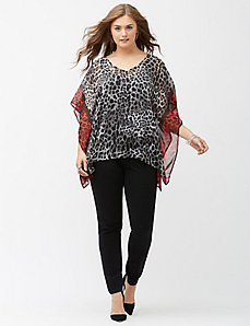 Mixed animal drama top