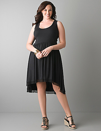 Plus size curved hem dress by Seven7