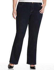 Straight leg jean with T3 Tighter Tummy Technology by Lane Bryant
