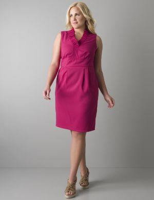 Ruffled V-neck sleeveless dress