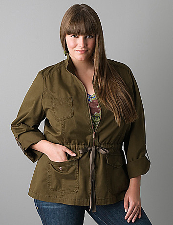 Full figured anorak jacket by Lane Bryant