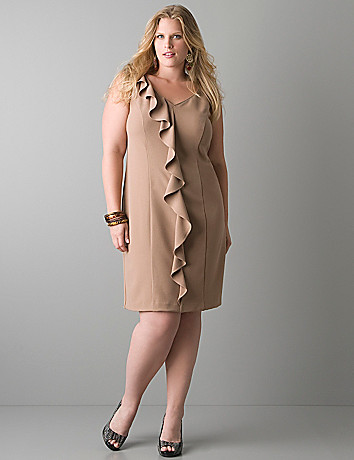 Sleeveless ruffle dress by Lane Bryant